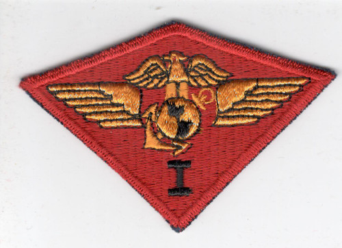 WW 2 USMC Marine 1st Air Wing Blue Base Patch Inv# X572