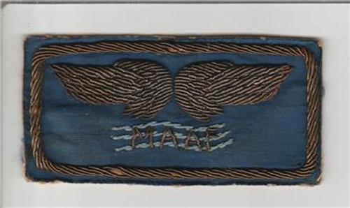 Italian Made Bullion Silk WW 2 Mediterranean Allied Air Force Patch Inv# H675