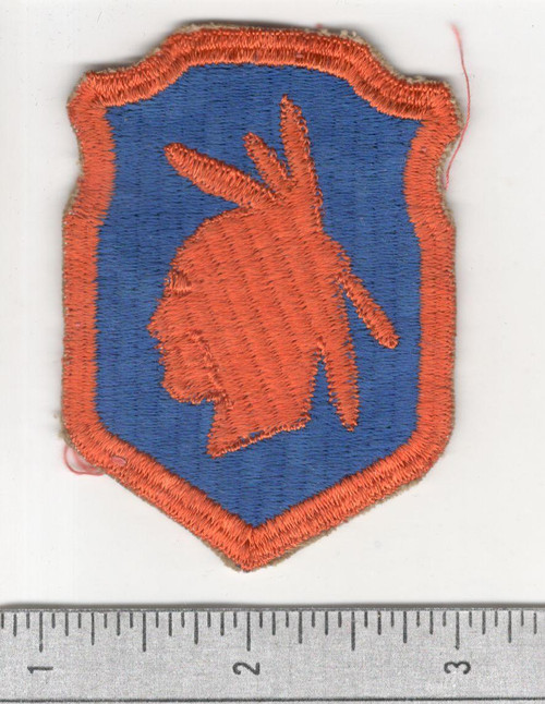 Off Uniform WW 2 US Army 98th Infantry Division Ribbed Weaved Patch Inv# B492