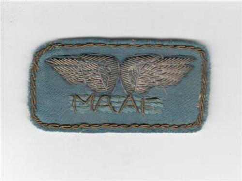 Italian Made Bullion WW 2 Mediterranean Allied Air Force Patch Inv# Z733