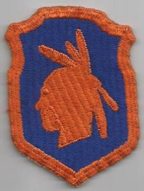 Off Uniform WW 2 US Army 98th Infantry Division Ribbed Weaved Patch Inv# F080