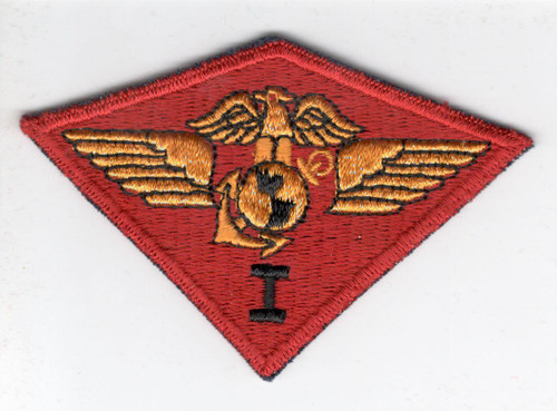 WW 2 USMC Marine 1st Air Wing Blue Base Patch Inv# X576