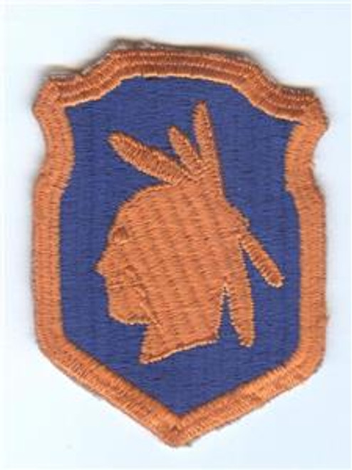 WW 2 US Army 98th Infantry Division Triple Border & Scared Cheek Patch Inv# F072