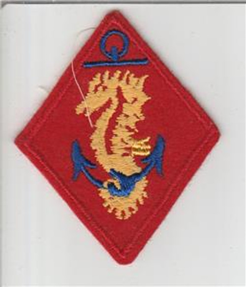 WW 2 USMC United States Marines Ship Detachments Wool Patch Inv# S694