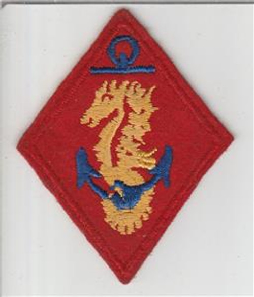 WW 2 USMC United States Marines Ship Detachments Wool Patch Inv# S695