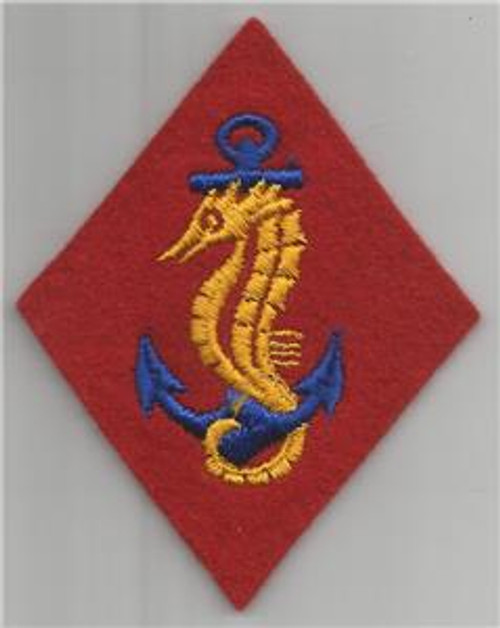 WW 2 USMC United States Marines Ship Detachments Wool Patch Inv# H928