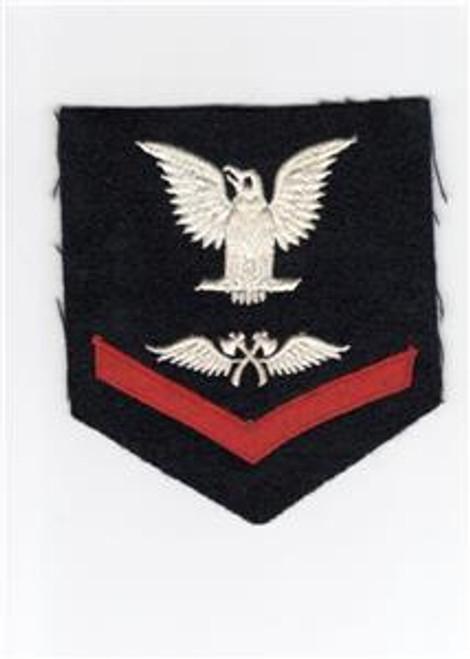 VHTF WW 2 US Navy 3rd Class Aviation Carpenter's Mate Rate Patch Inv# J717