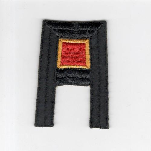 Pre WW 2 US Army 1st Army Ordnance Wool Black Back Patch Inv# F489