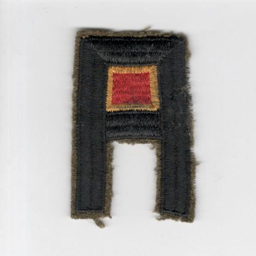 Pre WW 2 US Army 1st Army Ordnance Wool Black Back Patch Inv# F488