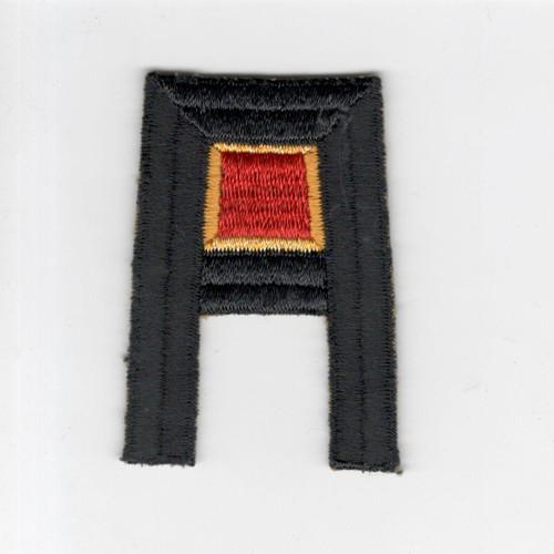 Pre WW 2 US Army 1st Army Ordnance Wool Black Back Patch Inv# F495