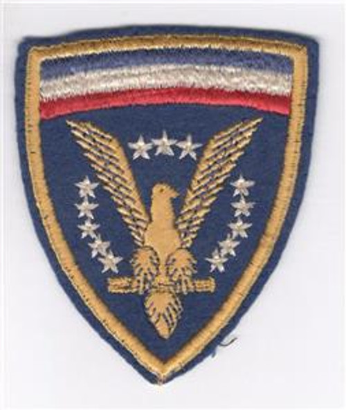 British Made Right Facing Wool WW 2 US HQ ETO Patch Inv# Z882