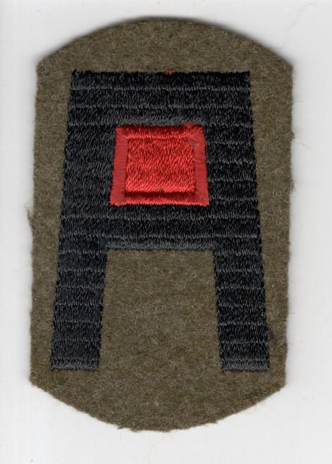 Pre WW 2 US Army 1st Army Artillery Black Back Wool Patch Inv# H641