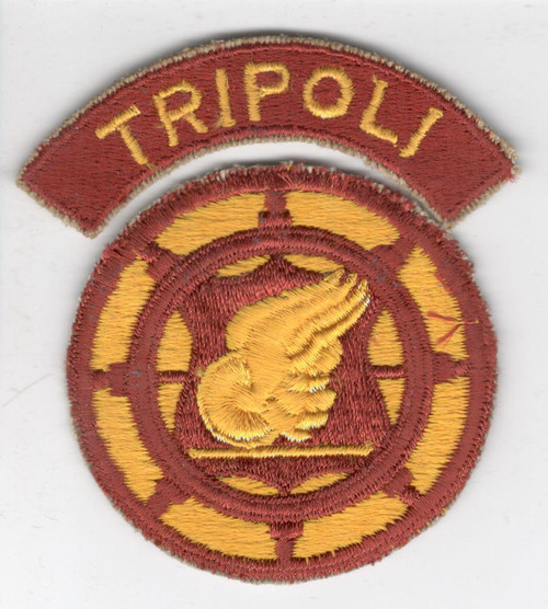 US Army Transportation Terminal Command Patch & TRIPOLI Tab Inv# B708
