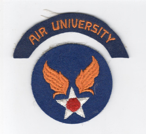WW 2 US Army Air Force Air University Wool Patch & Tab Inv# D294