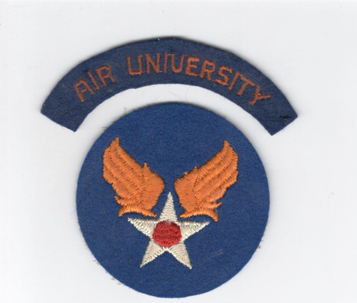 WW 2 US Army Air Force Air University Wool Patch & Tab Inv# D293