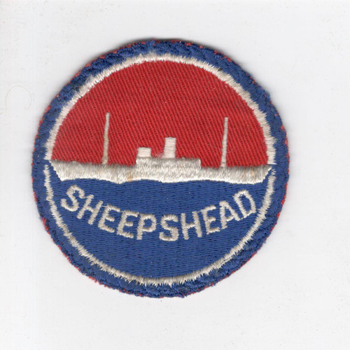 "WW 2 US Navy Sheepshead Bay 3"" Patch Inv# J430"