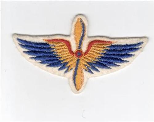 "4-1/2"" WW 2 Civilian Pilot Training Wings Patch Inv# D344"