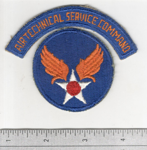 WW 2 US Army Air Force Air Technical Service Command Patch & Tab Inv# B538