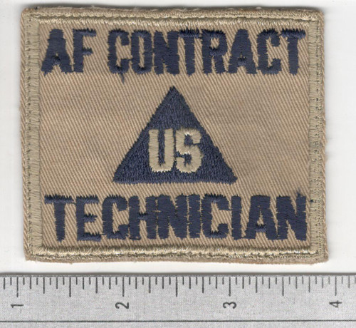 Cut Edge No Glow US Non Combatant AF Contract Technician Patch Inv# S953