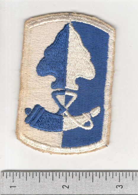 Early 60's Cut Edge No Glow US Army 187th Infantry Brigade Patch Inv# B277