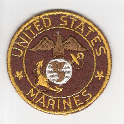 "WW 2 US Army Marines 2-3/4"" Sweetheart Patch Inv# P757"