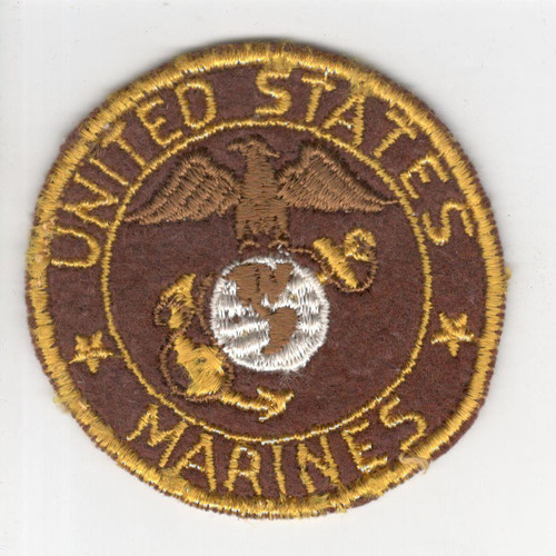 "WW 2 US Army Marines 2-3/4"" Sweetheart Patch Inv# P756"