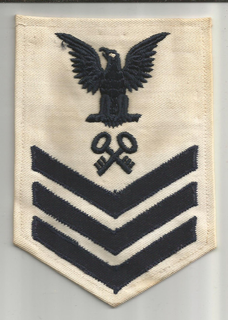1942 US Navy 1st Class Petty Officer Storekeeper Rate Patch Inv# W061