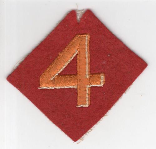 HTF Variation WW 2 USMC 4th Marine Division Wool Patch Inv# M995