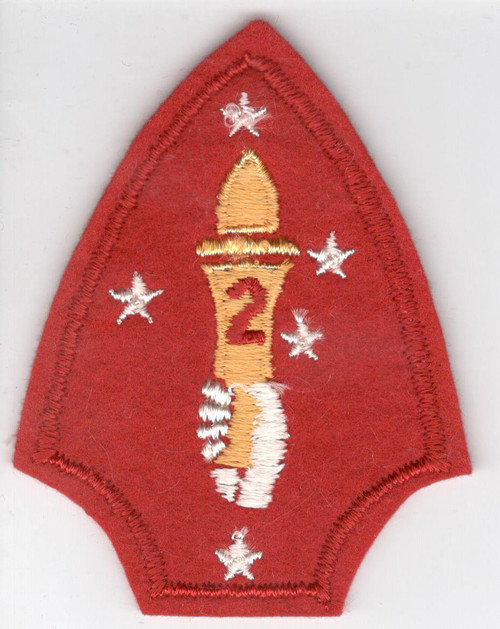WW 2 USMC 2nd Marine Division Wool Patch Inv# Z220