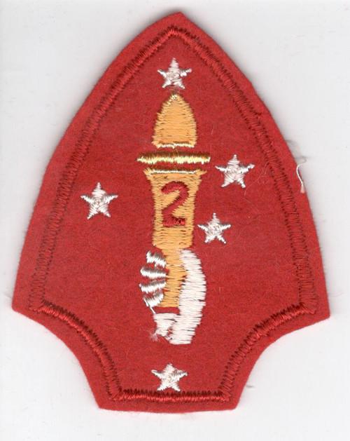 WW 2 USMC 2nd Marine Division Wool Patch Inv# M988