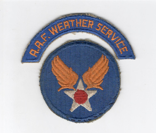 WW 2 US Army Air Force Weather Service Patch & Tab Inv# D317