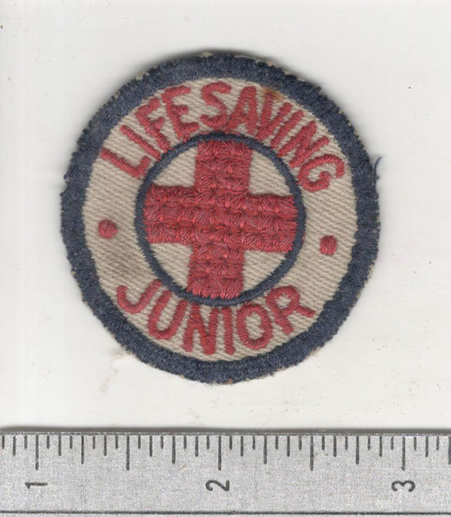 WW 2 Red Cross Junior Life Saving Cap Patch Inv# C012