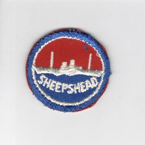 "WW 2 US Navy Sheepshead Bay 2-1/4"" Patch Inv# J417"