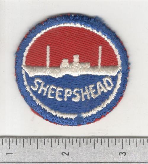 "WW 2 US Navy Sheepshead Bay 2-1/4"" Patch Inv# B929"