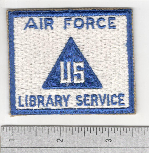 Cut Edge No Glow US Non Combatant Air Force Library Service Patch Inv# S958