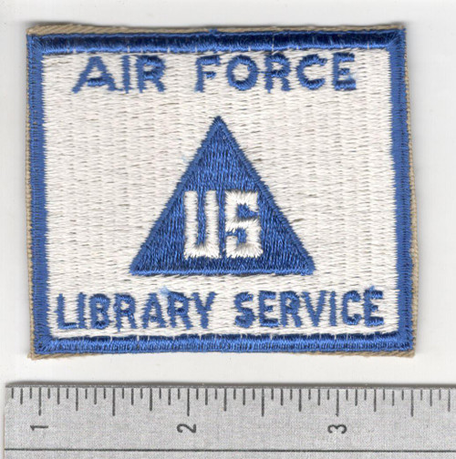 Cut Edge No Glow US Non Combatant Air Force Library Service Patch Inv# S959