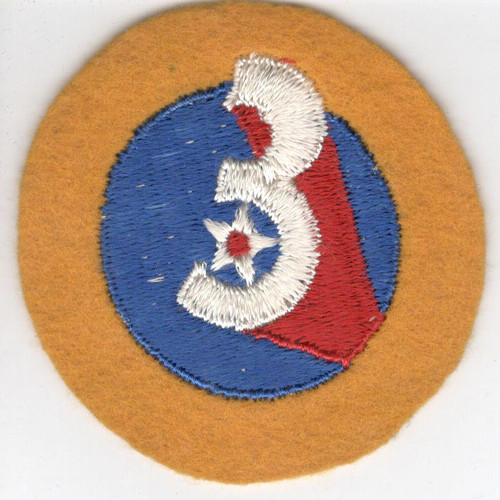 WW 2 US Army 3rd Air Force Wool Patch Inv# Z493