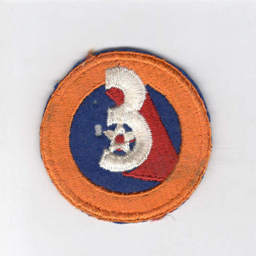 WW 2 US Army 3rd Air Force Wool Center Patch Inv# C948