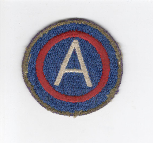 German Made OD Border US Army 3rd Army Patch Inv# D468