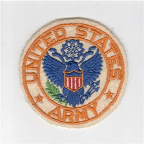 "3-3/4"" WW 2 United States Army Jacket PX Wool Patch Inv# H214"