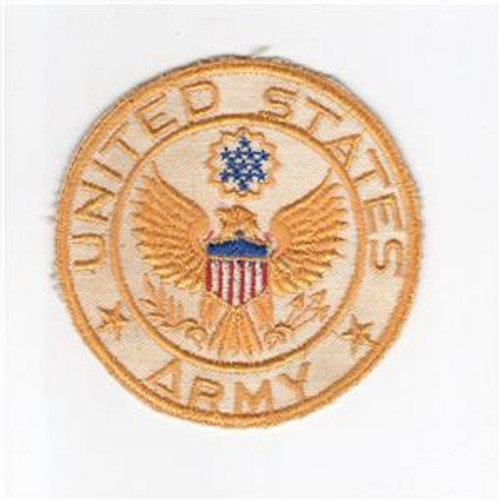 "3-1/2"" WW 2 United States Army Jacket PX Twill Patch Inv# H220"