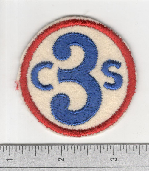 40's Made WW 1 3rd Corps School Wool Patch Inv# S879
