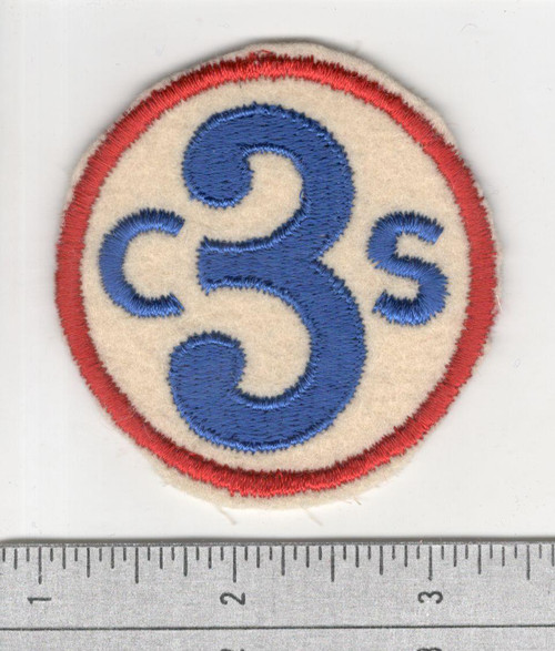 40's Made WW 1 3rd Corps School Wool Patch Inv# S880