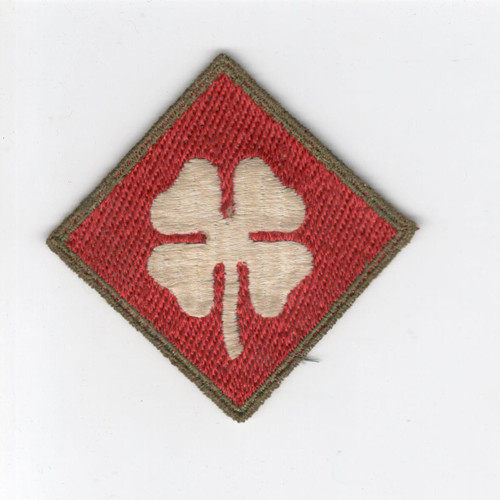 German Made US Army 4th Army OD Border Patch Inv# D500