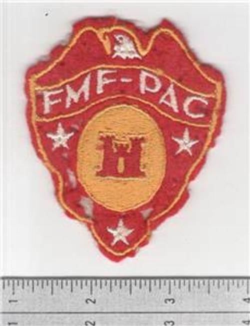 Salty Off Uniform WW 2 USMC FMF-PAC Engineer Wool Patch Inv# S472