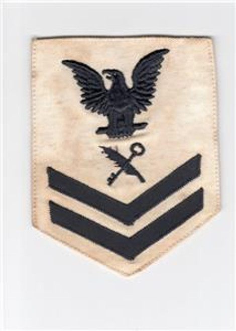 WW 2 US Navy 2nd Class Ship's Serviceman Rate Patch Inv# J694