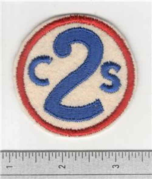 40's Made WW 1 2nd Corps School Wool Patch Inv# S873
