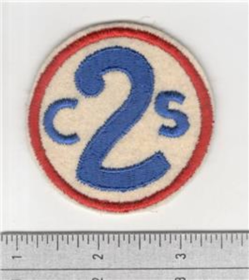 40's Made WW 1 2nd Corps School Wool Patch Inv# S874