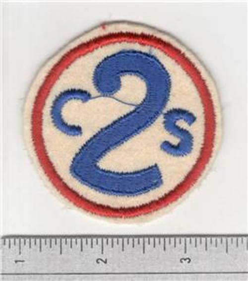 40's Made WW 1 2nd Corps School Wool Patch Inv# S876
