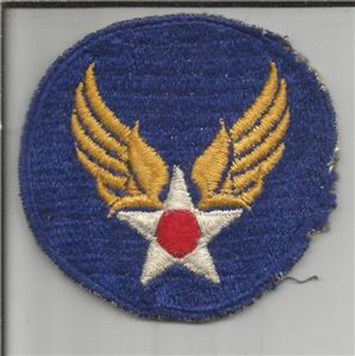 VHTF Ribbed Weave Gemsco WW 2 US Army Air Force Patch Inv# B135